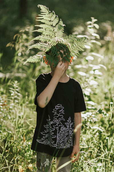 T-SHIRT IN THE WOODS, for boys
