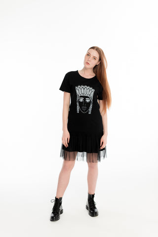TSHIRT DRESS. BLACK