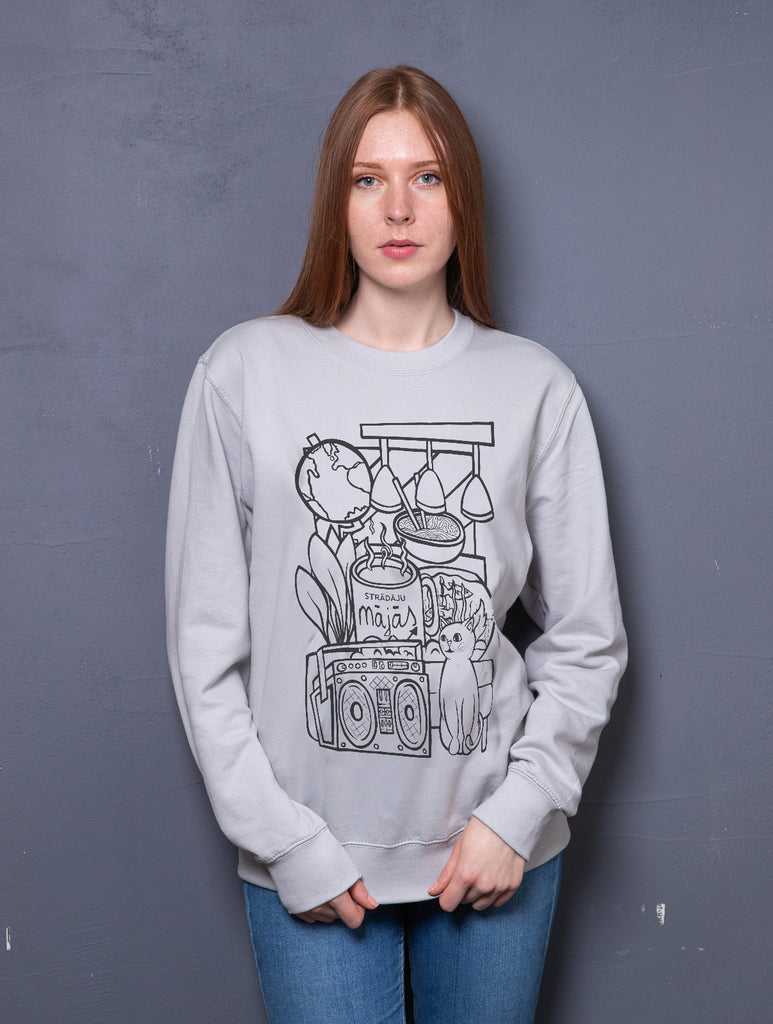 "Sweatshirt ""Working home"", CAT or DOG variant"