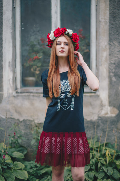 TSHIRT DRESS. LATVIAN BLACK