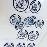 The Bodyshop logo ready to be exposed to screen for screen printing