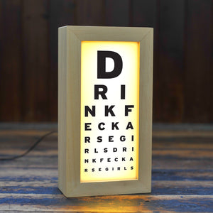 Father Ted inspired light box. A lamp that says Drink Feck Arse Girls