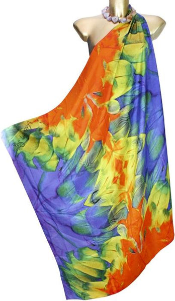 SOLD OUT Pre-Order 3 Weeks. Feathers  -  Silk Twill Scarf