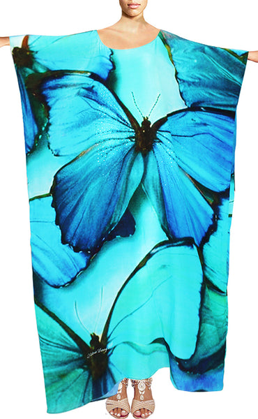 Kaftan in silk. Butterfly