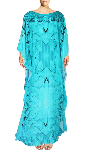 SOLD OUT Pre-Order 3 Weeks. Kaftan majestic plumage brilliant necklace. Angel