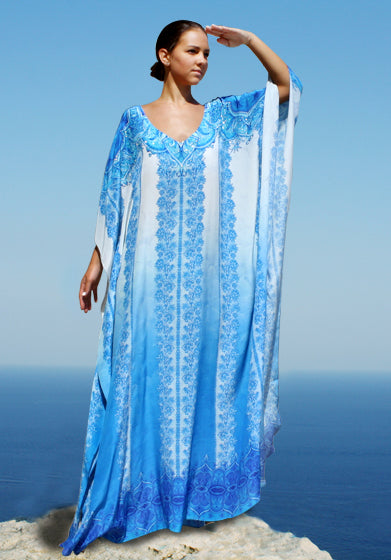 Kaftan Sparkling Flowers. French Lady