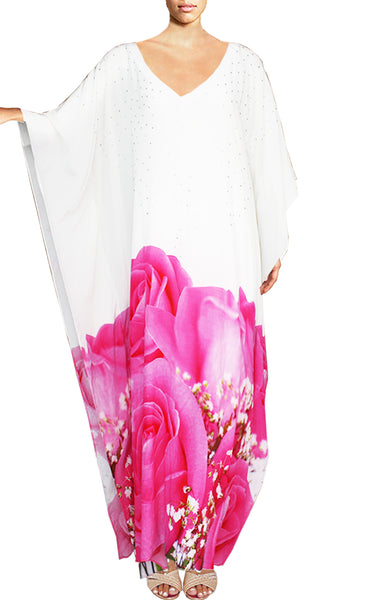 Floral-Print Caftan Maxi Dress. Love