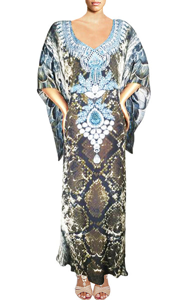 Dress in silk python skin. Python