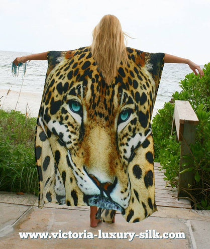 Leopard Cap Majestic. Long silk cardigan
