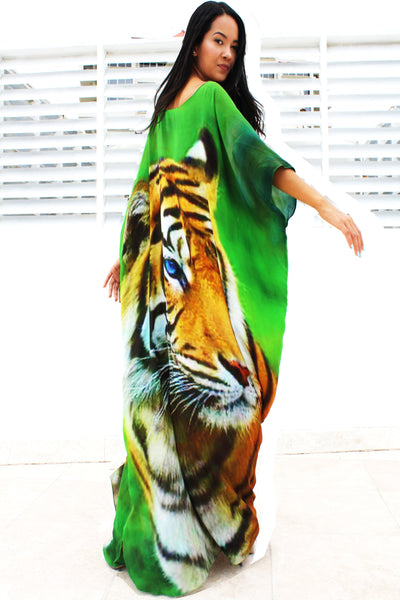 Tiger Silk Kaftan New