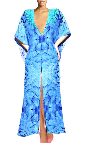 long Cardigan Blue feathers. Angel