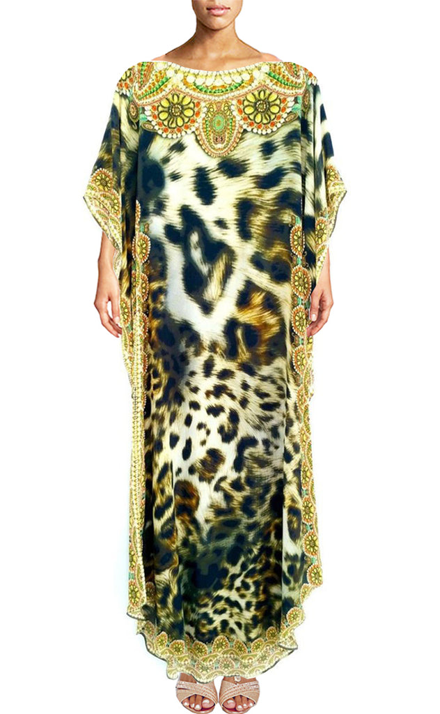 SOLD OUT Pre-Order 3 Weeks. Leopard Dress in silk. Belle Africaine