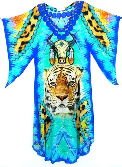 kaftan dress tiger buffalo. Amerindian