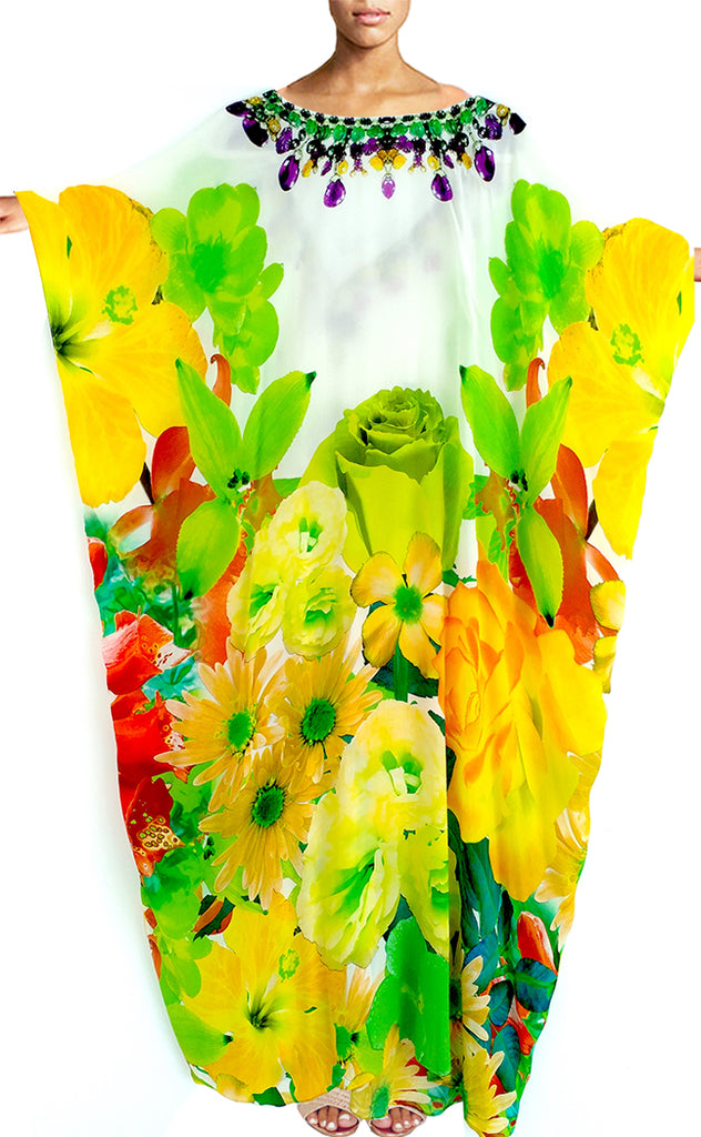 kaftan floral. French Bouquet bouquet