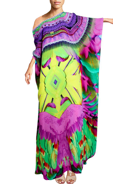 Kaftan round neck Majestic eagle spreading wings. Floride