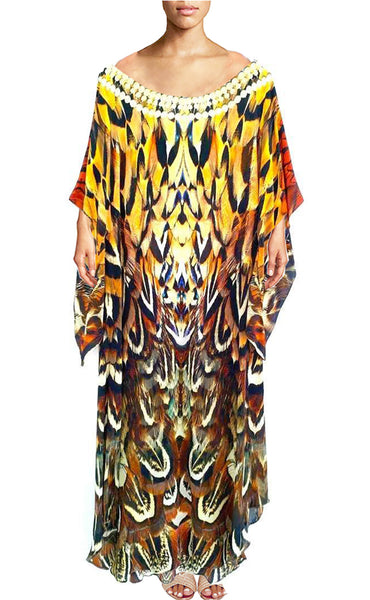 SOLD OUT Pre-Order 3 Weeks. Kaftan almond Ringneck Pheasant.  Feathers Pheasant