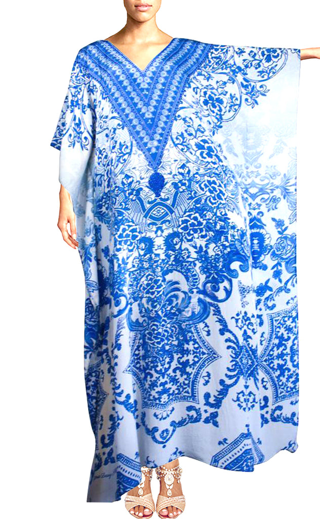 SOLD OUT Pre-Order 3 Weeks. Kaftan blue. Victoria