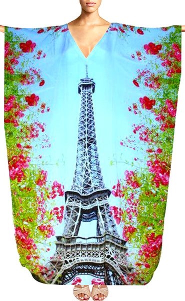 Kaftan. Paris flowers.