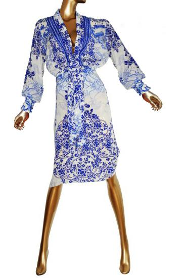 SOLD OUT Pre-Order 3 Weeks. Dress pretty blue flowers. Victoria