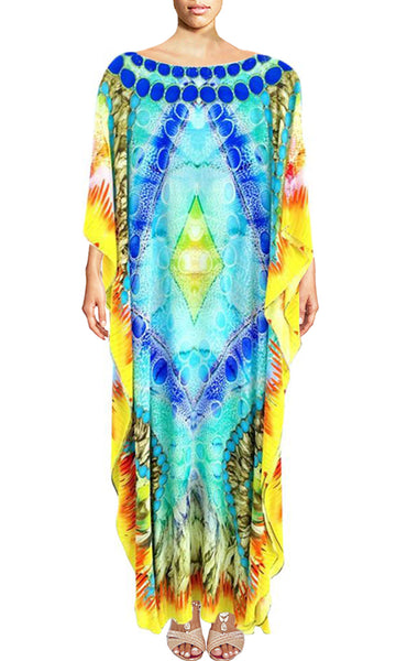 Kaftan dress turquoise. Azure