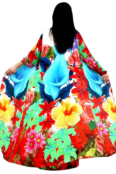 Cape in silk and blossoming fleurs de lis. Belle de Jour