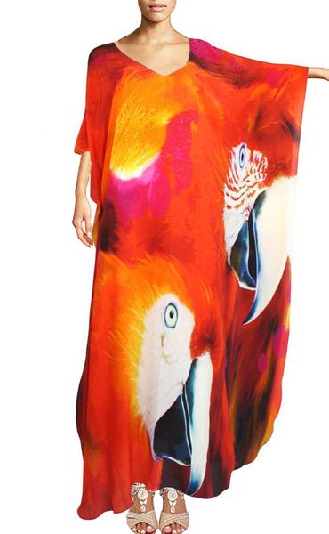 SOLD OUT Pre-Order 3 Weeks. Kaftan Exotic Parrot. Exotic perrot
