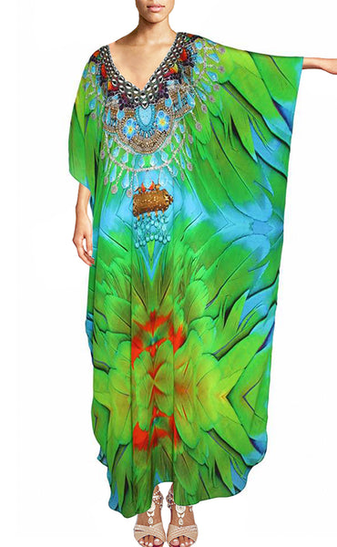kaftan Magnificent Green Parrot