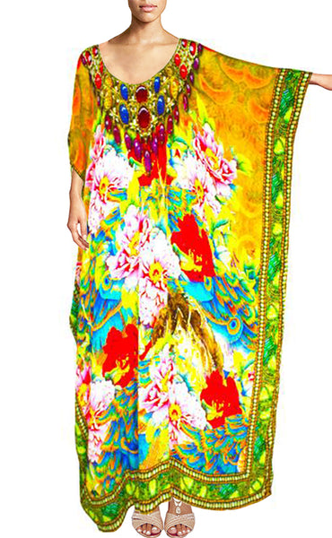 Kaftan Yellow Flowers. French Flowers