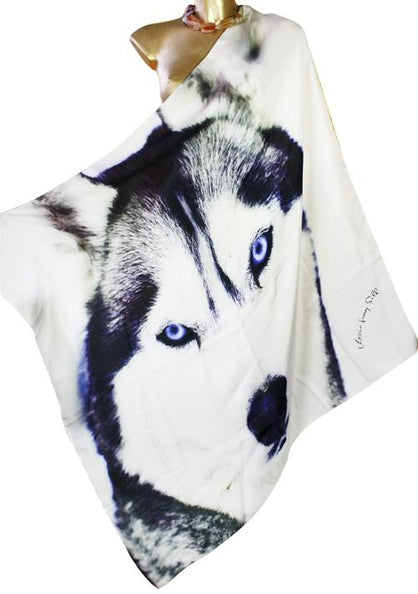 SOLD OUT Pre-Order 3 Weeks. Silk Scarf  wolf