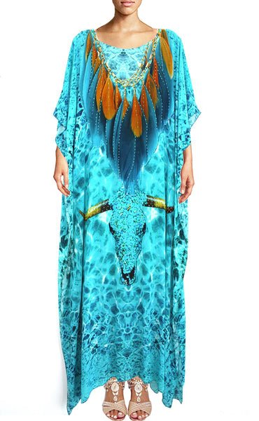 Kaftan in silk. Buffalo