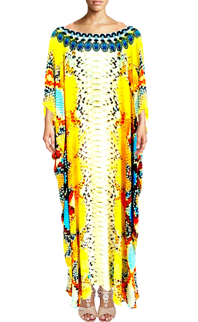 SOLD OUT Pre-Order 3 Weeks. Caftan with Beautiful and Fierce Python Skin. Queen Python