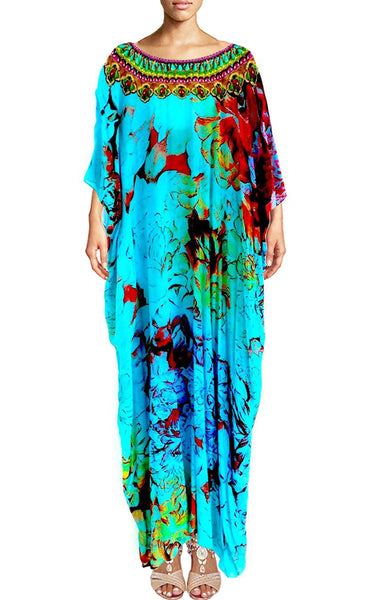 Maxi Dress Kaftan. Femme de Paris