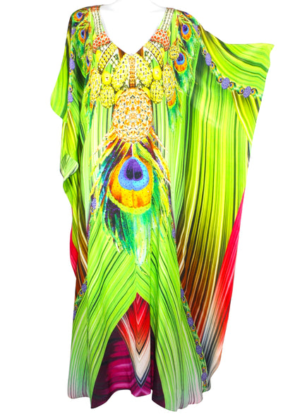 Kaftan in silk. French Caribbean