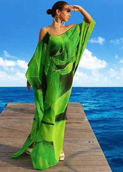 SOLD OUT Pre-Order 3 Weeks. Emerald Silk Dress Spiral of Rose Petals. Paris in Love