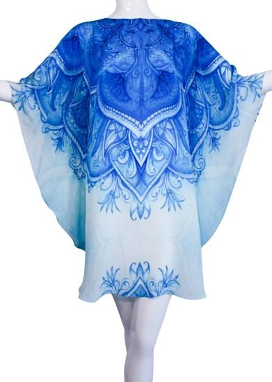 SOLD OUT Pre-Order 3 Weeks. Blue Top refined by artistic patterns. Monte Carlo