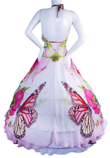 Dress butterfly in silk. butterfly