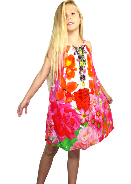 Girls floral dress. French Bouquet