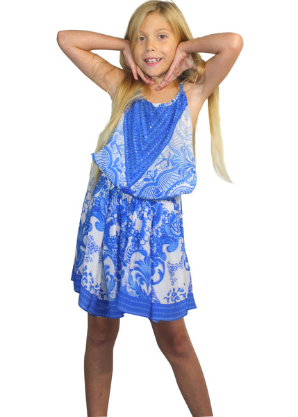 Girls floral versatile dress. Victoria