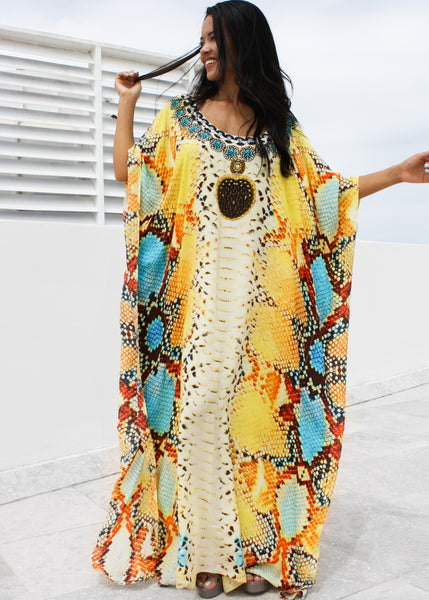 Caftan with Beautiful and Fierce Python Skin. Queen Python