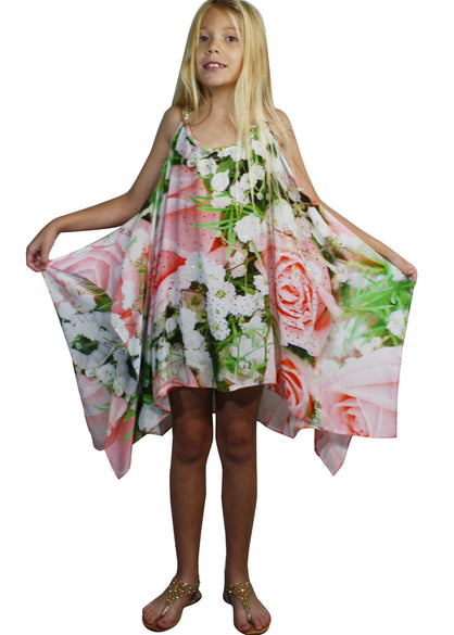 Girls floral versatile dress. French Roses
