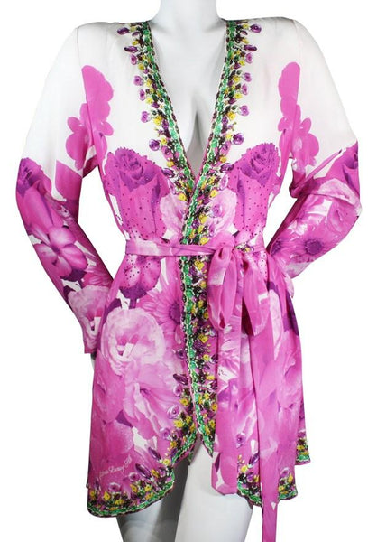Kimono Coverup w/ Belt. French Bouquet