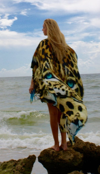 SOLD OUT Pre-Order 3 Weeks. Leopard Cap Majestic. Long silk cardigan