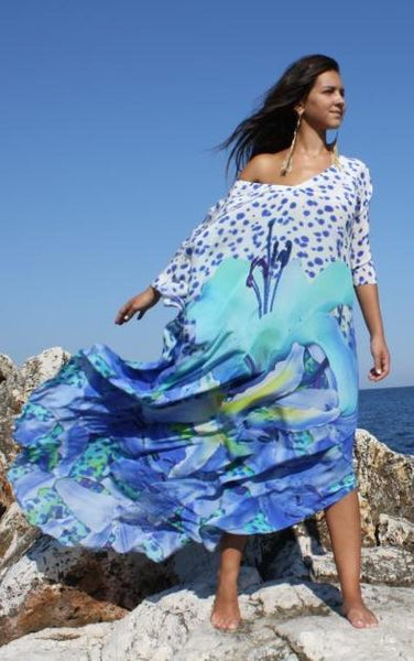 Floral-printed kaftan. French Lover
