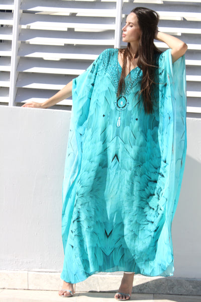 Kaftan majestic plumage brilliant necklace. Angel