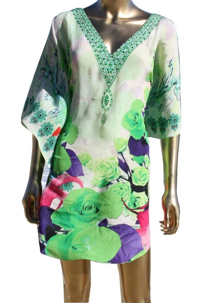 SOLD OUT Pre-Order 3 Weeks. tunic green roses. J'adore
