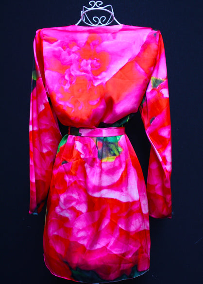 Kimono Coverup w/ Belt. Paris in Love