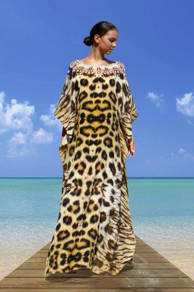 SOLD OUT Pre-Order 3 Weeks. kaftan tiger leopard fur. Jolie Africaine