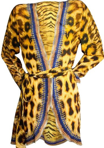 SOLD OUT Pre-Order 3 Weeks. kimono leopard print. Jolie Africaine