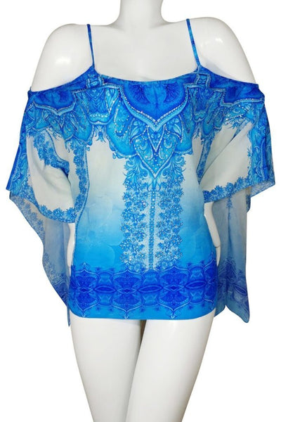 Top in silk multiway to wear. French Lady