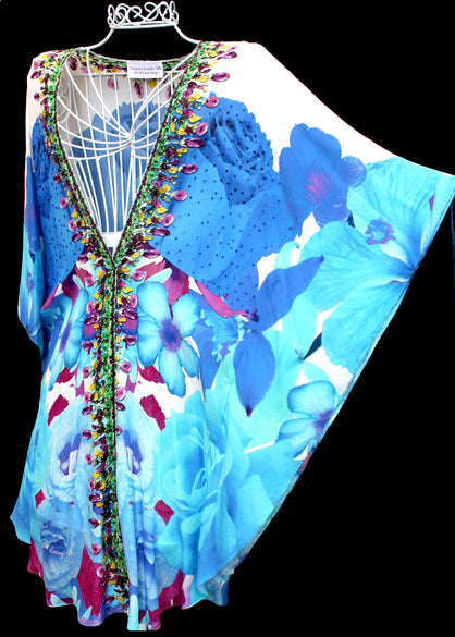 Floral Jacket Coverup w/ Belt. French Bouquet